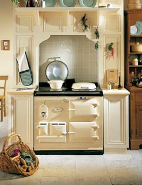 Aga keuken de kunsten van een aga fornuis nieuws startpagina voor keuken stock afbeelding - Tegel keuken oud ...